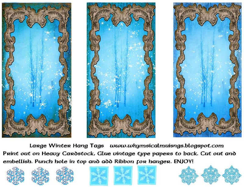 Lagre Winter Hang Tags Collage Sheet Resize